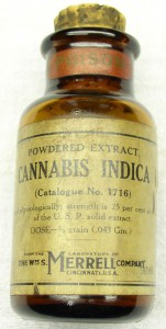 Cannabis extract, commonly found in early 20th century pharmacies