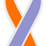 The Psoriasis Awareness ribbon is Orchid over Orange